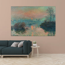 Load image into Gallery viewer, Sunset on the Seine Colossal Art Print