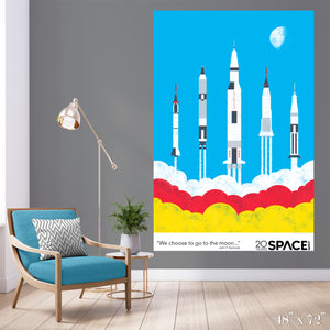 To the Moon Colossal Art Print