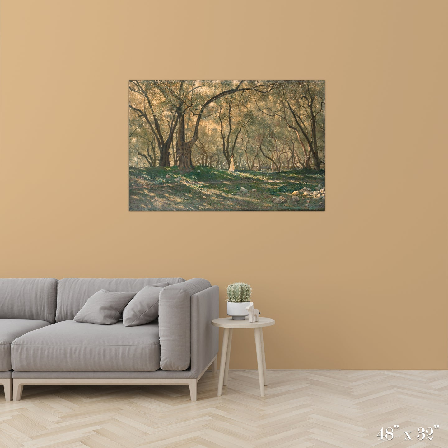 Young Girl Under Olive Trees Colossal Art Print
