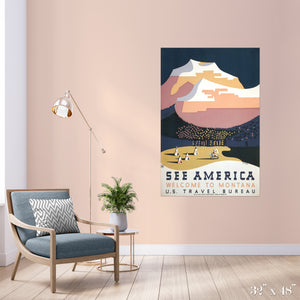 Welcome to Montana Colossal Art Print