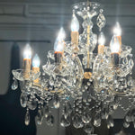 Vintage French & Italian Cut Glass & Crystal Chandeliers