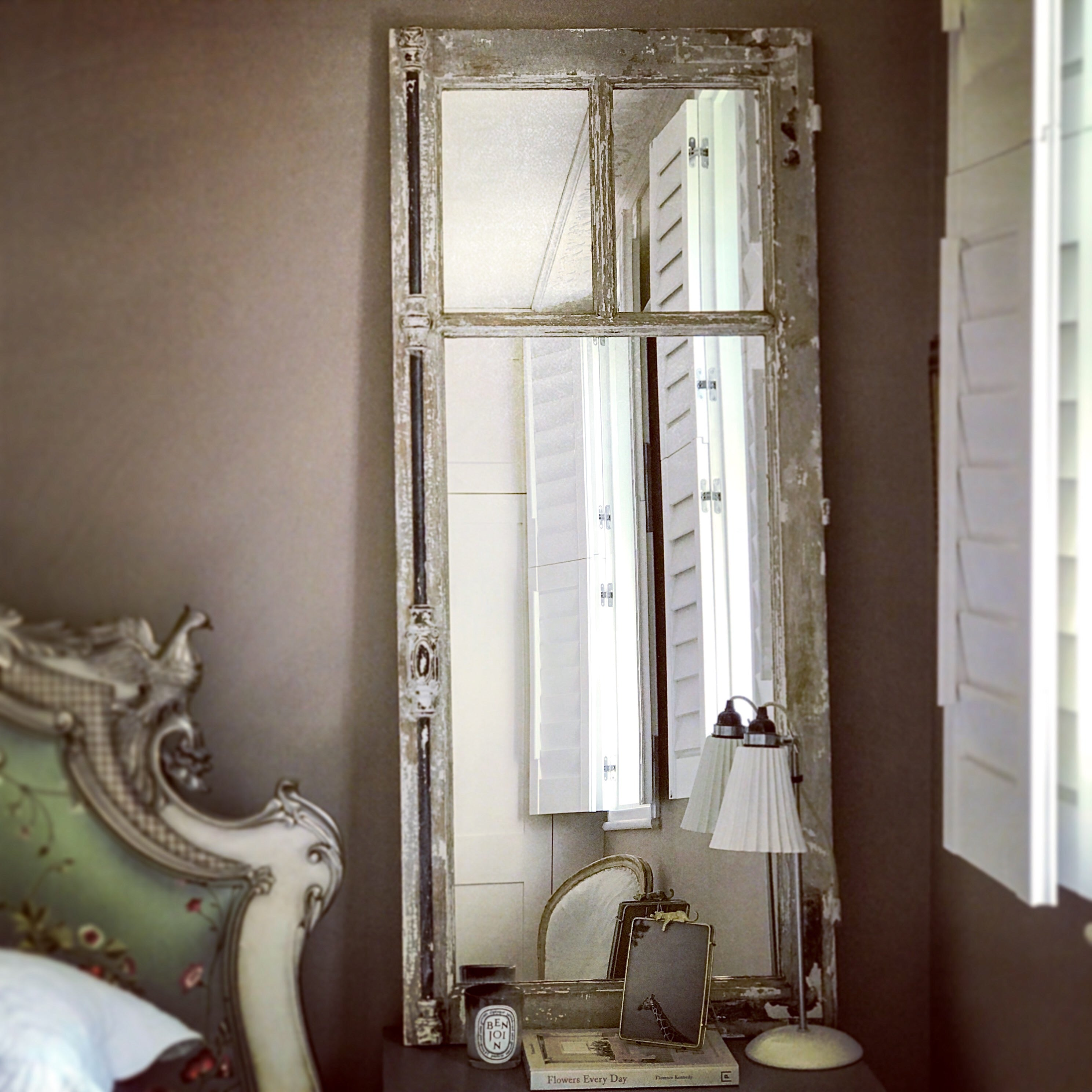 Vintage French Mirrored Window