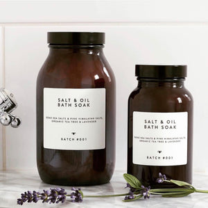 Batch #001 Salt & Oil Bath Soak Tee Tree & Lavender