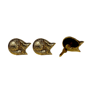 Sleeping Fox Brass Knob