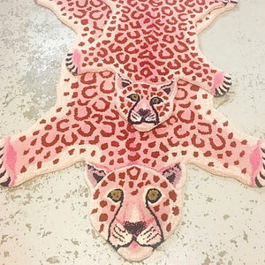 Pinky Leopard Rug