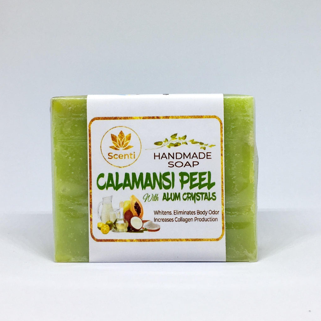 Calamansi Peel With Alum Crystals Handmade Soap 130g