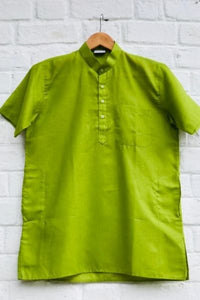 Solid Short Kurta - Green