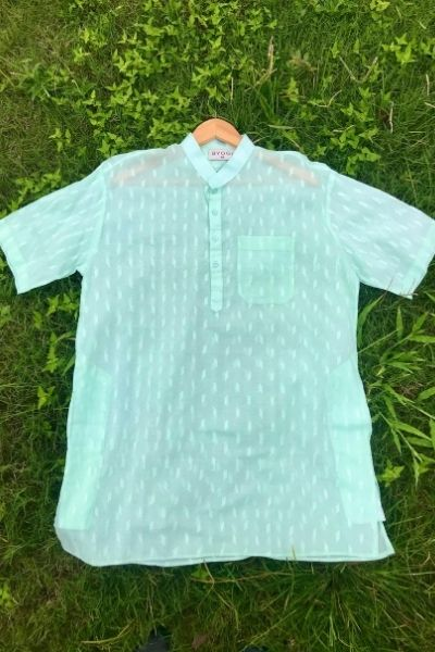 Regular Short Kurta Light Green