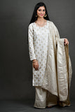 Byogi Soumya collection.It is a Festive kurta for women latest design. This is an embroidered kurti for women which is Straight-cut with sweetheart neckline, full sleeves with potli detailing.