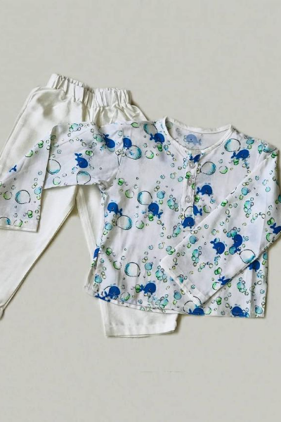 Bubbly Whale Top and Pant set