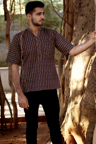 Printed cotton short kurta