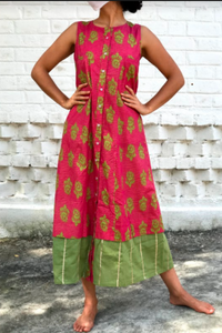 Sleeveless kali Kurta