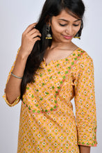 Load image into Gallery viewer, Embroidered Yoke Kurti