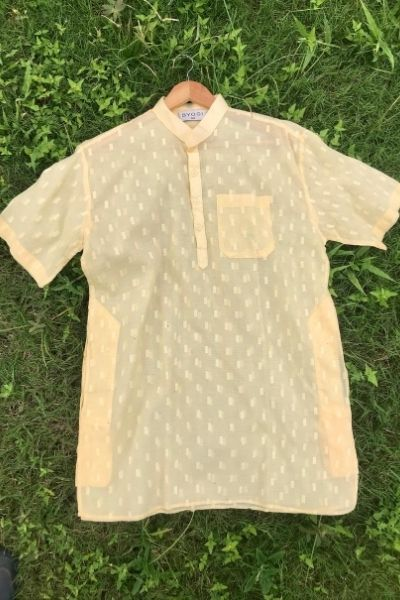 Regular Short Kurta - Light Peach