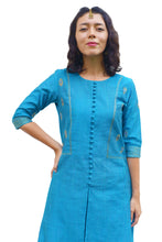 Load image into Gallery viewer, Peacock Feather Embroidered Kurti Set
