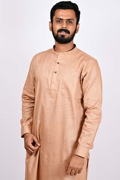 Army Cotton Regular kurta - Mocha brown