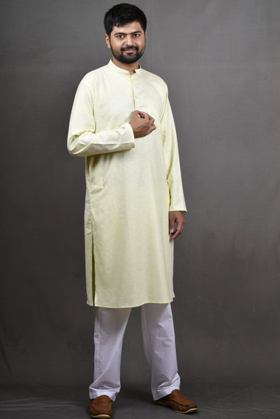 Linentouch Regular Kurta - Lime Green