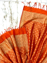 Load image into Gallery viewer, Orange Jaal Dupatta