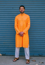 Load image into Gallery viewer, Orange Printed Long Kurta