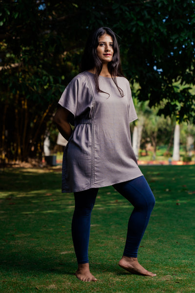 Asymmetrical gathered tunic