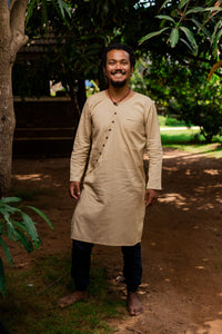 Asymmetric placket kurta