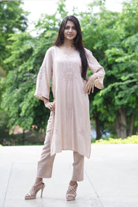 Bell Sleeves Long Tunic - Powder Pink