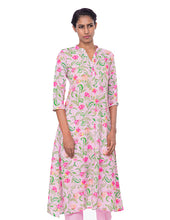 Load image into Gallery viewer, Floral Kurti with Buttons
