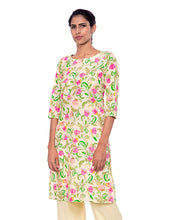 Load image into Gallery viewer, Floral Boat Neck Kurti