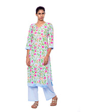 Load image into Gallery viewer, Floral Kurtis With Frills