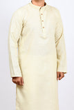 Cotton Jute Regular Kurta - Soft Beige