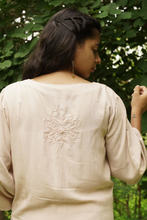 Load image into Gallery viewer, Self Embroidered Short Tunic - Powder Pink