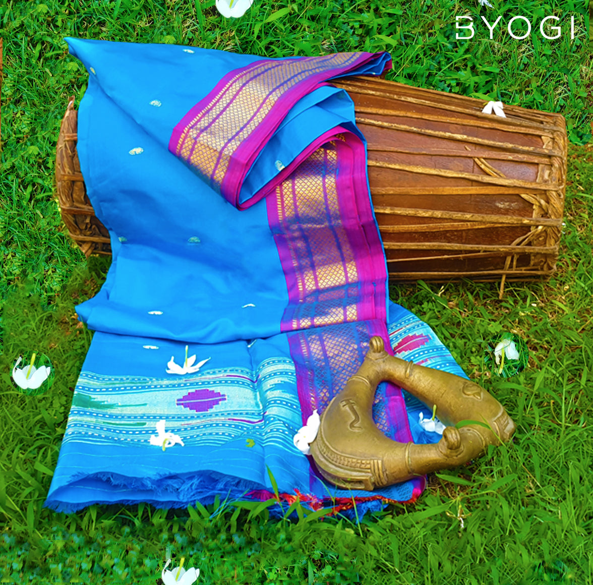 The Woven Story: Paithani Blue
