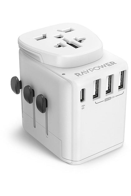 RAVPower Travel Charger Diplomat 30W 4-Port PD QC3.0 - White