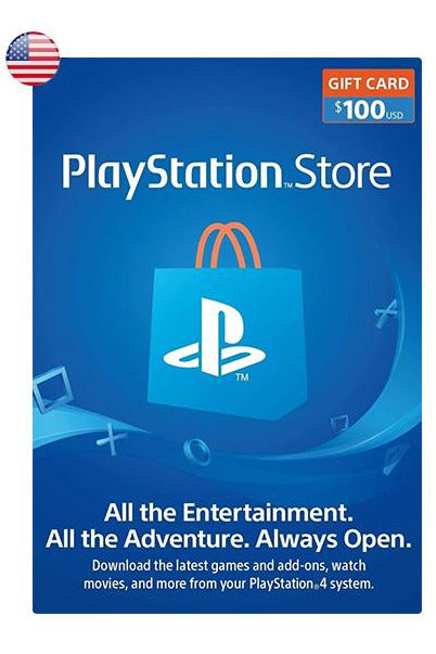 PlayStation Store Gift Card 100$USD