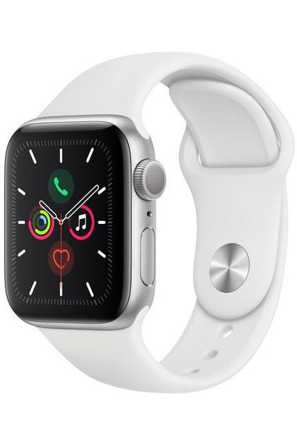 Apple Watch Series 5 GPS, 40mm, Silver Aluminum Case White Sport Band