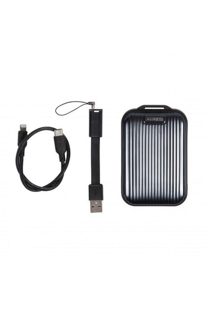 Momax Ready To Go mini 5 External Battery 10000mAh with Lightning Cable - Black (VPD0046)