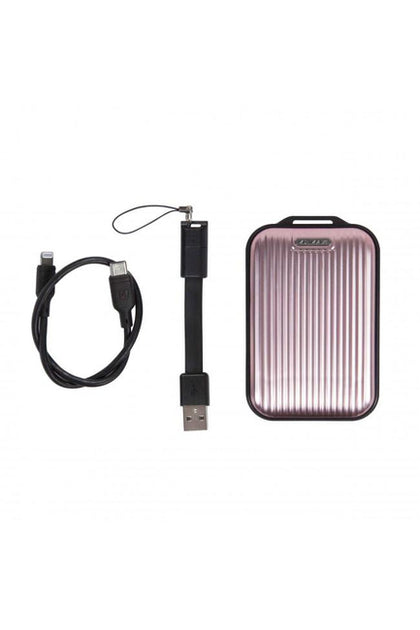 Momax Ready To Go mini 5 External Battery 10000mAh with Lightning Cable - Rose Gold (VPD0048)