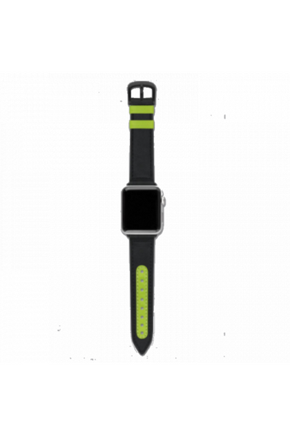Evutec Apple Watch Band 42-44mm Reflective Sport - Black / lime