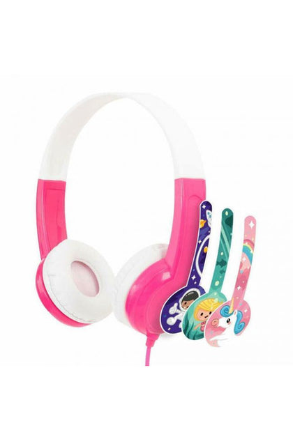 Buddyphones Connect On-Ear Wired Headphones - PINK