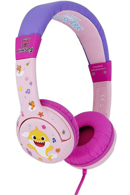 OTL Baby Shark Pink Headphones for Children Pink