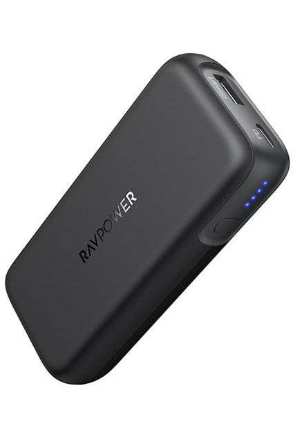 RAVPower 10000mAh 29W Portable Charger 2-Port Power Bank - Black