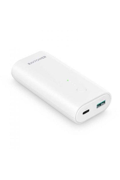 RAVPower Portable Charger10000mAh PD+QC 18W -  White