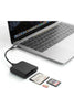 HyperDrive USB-C Pro Card Reader for UHS-II microSD, SD 4.0, CFast Card - Black (HD209)