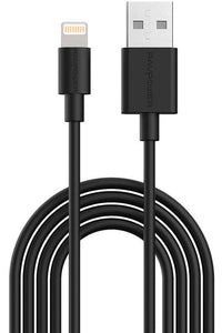 RAVPower Lightning Cable Charge & Sync 6.6ft 2M - Black