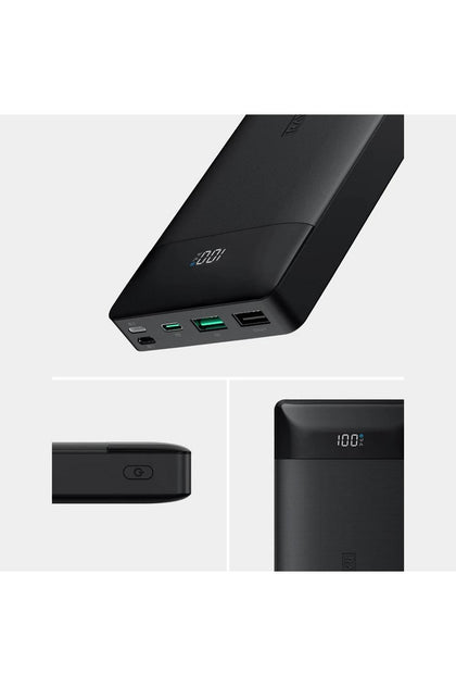RavPower PD Pioneer 20000mAh 18W 3-Port Power Bank - Black (RP-PB172) - www.emarketkw.com