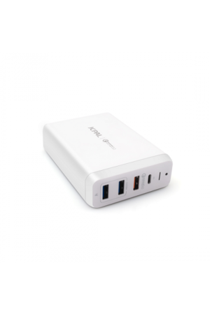 JCPal ELEX 60W USB-C PD Multiport Desktop Charger - White (JCP6169) - www.emarketkw.com