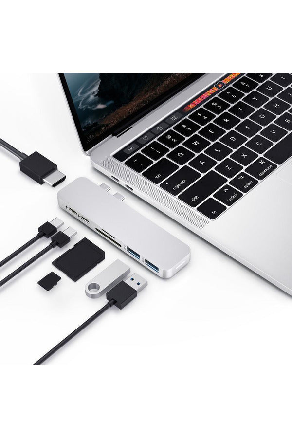 HyperDrive DUO 7-in-2 Hub for USB-C MacBook Pro/Air - Silver (GN28B) - www.emarketkw.com