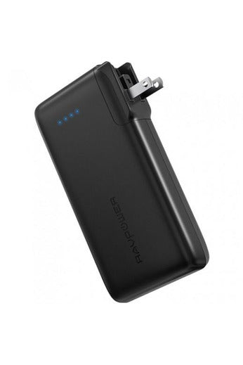 RAVPower Ace 10050mAh Portable Power Bank with AC Plug - Black