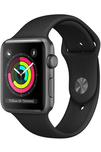 Apple Watch Series 3 42 mm space gray alluminium black soprt band (gps) (MTF32ZP/A)