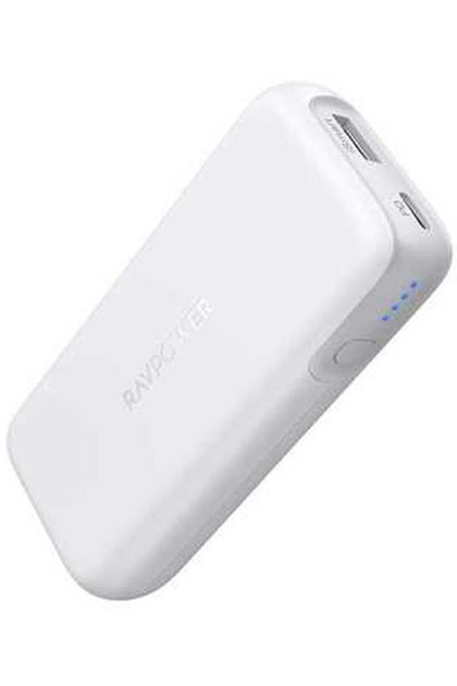 RAVPower 10000mAh 29W Portable Charger 2-Port Power Bank - White